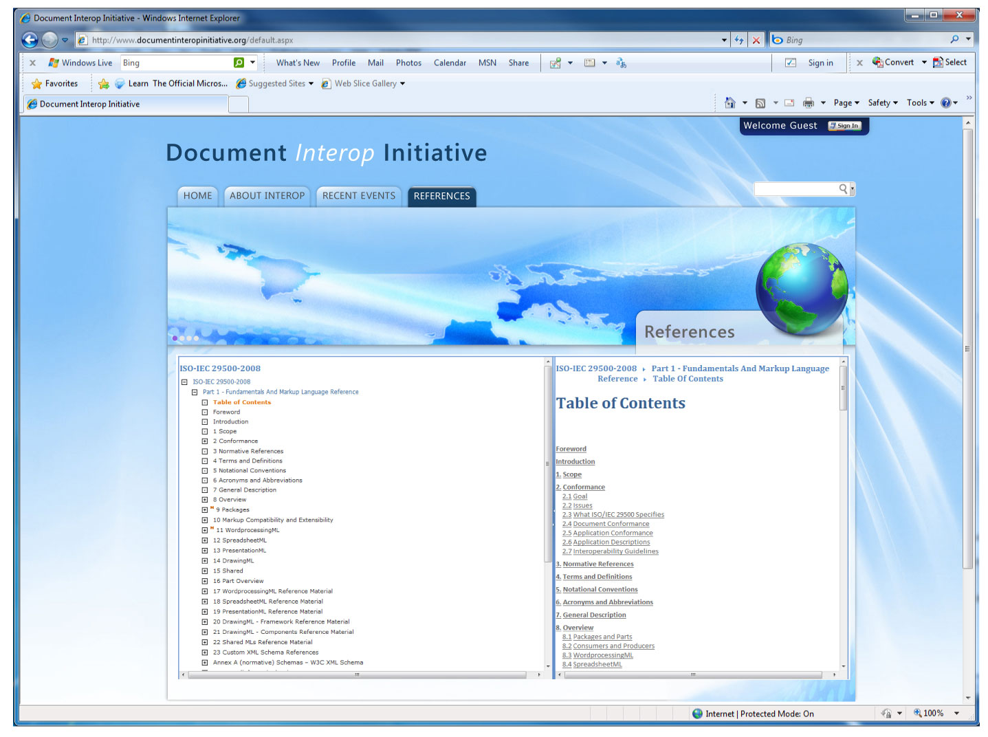 Interop Document Website - Microsoft