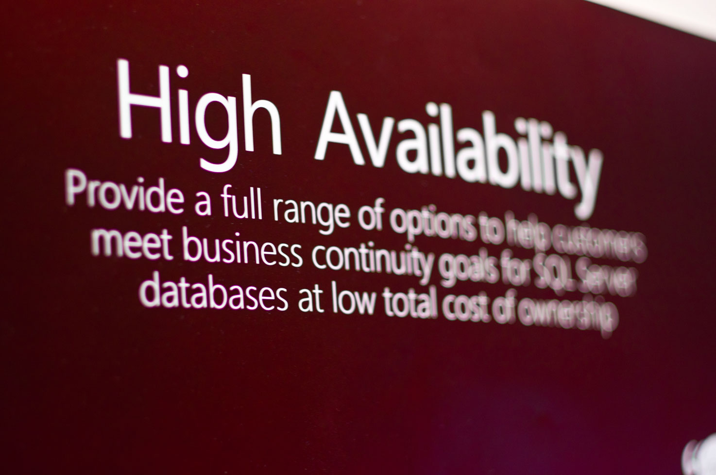 SQL Server High Avalability Poster