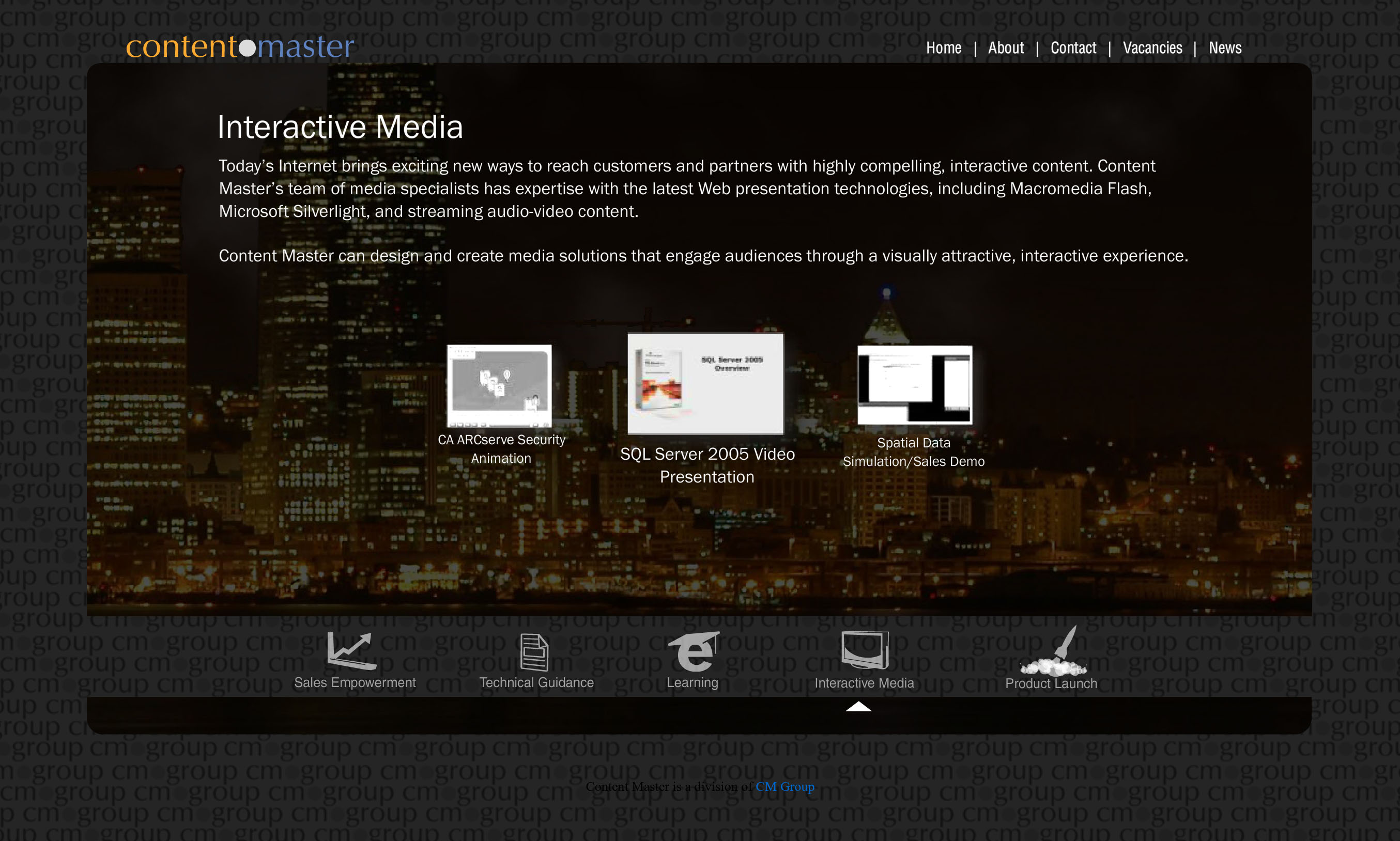 Content Master Website, Photography and Development