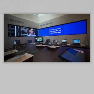 Microsoft Executive Briefing Center -  device bar animations